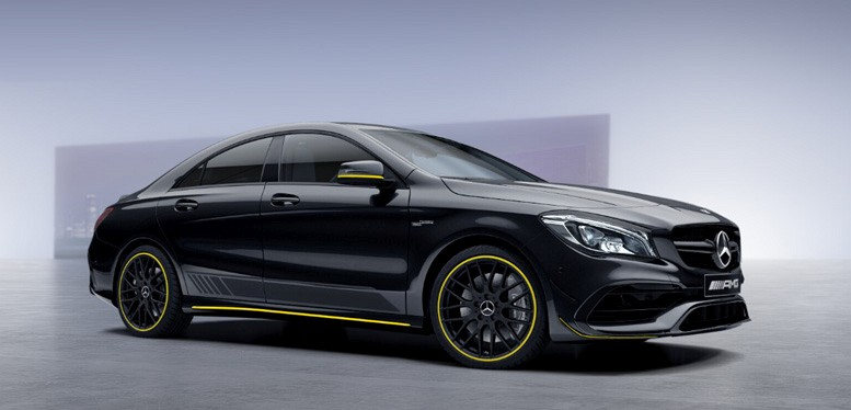 Mercedes Cla Coupe 45 Amg Yellow Night Edition Contract
